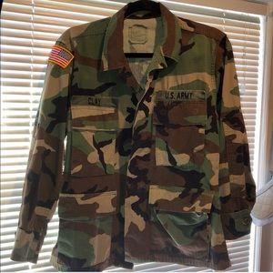 Vintage Embroidered Army Camo Jacket